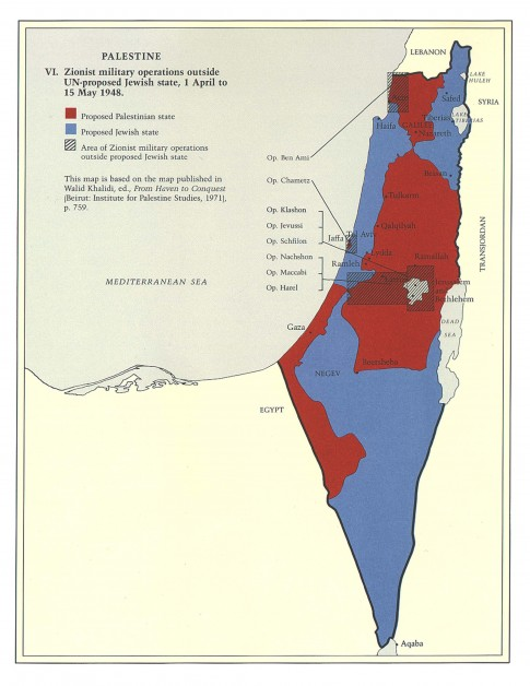 Zionist Military Operations Outside UN Partition Lines